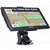 LOVPOI GPS Navigation for Car, GPS for Truck Drivers Commercial(7 Inch), 2021Map with Free Lifetime Updates, Auto RV GPS Navigation System, Spoken Turn by Turn Directions, Speed Limit Warnings