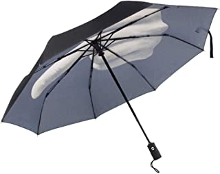Automatic Folding Umbrella,Creative Personality Middle Finger, Easy to Carry One-Button Open Suitable for Both Men and Women ,with Ergonomic Handle