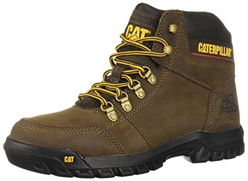 Caterpillar Men's Outline Work Boot, Seal Brown, 9.5 M US
