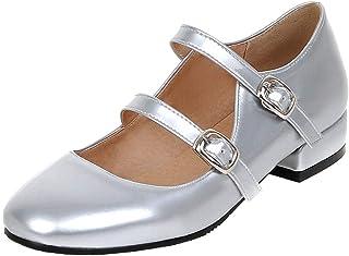 Amazon.co.uk: Silver - Mary Janes