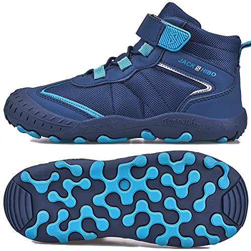 SITAILE Trekkingschuhe für Kinder Wanderschuhe Jungen Mädchen Mit Schnellverschluss Atmungsaktive Schuhe rutschfest Laufschuhe für Outdoor,01 Dunkelblau,28EU