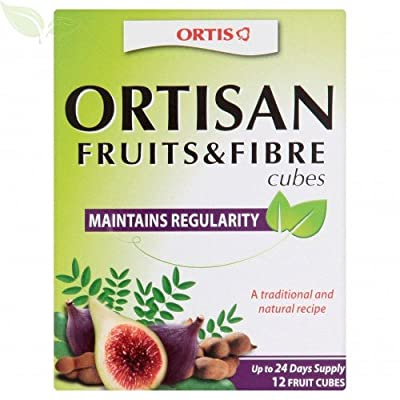 (3 PACK) - Ortis - Ortis Fruits And Fibre Cubes   12 Cubes box   3 PACK BUNDLE