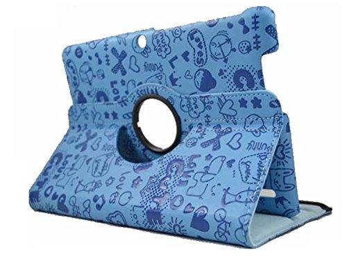 theoutlettablet Funda para Tablet Bq Edison 3 10.1' Quad Core. Giratoria 360º Color Azul Dibujos