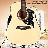 Yeelur Golpeador de Guitarra acústica Golpeador, Golpeador Autoadhesivo, para Guitarra Folk de 41'(Black)