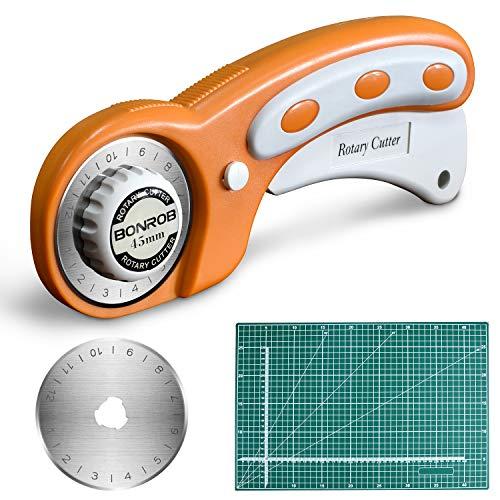 Cortador Rotativo con Cuchillas Rotatorias 45 mm,Corte de Autocuración Mat 3045CM de...