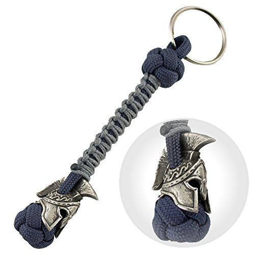 Spartan Paracord Keychain for Men - Handmade Paracord Lanyard Keychain for Knife - Custom EDC Accessories