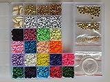 Kit para hacer pulseras, surtido de abalorios, hacer collares y pulseras niña adultos