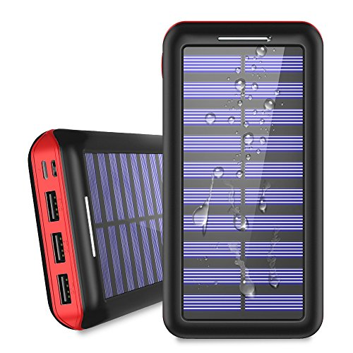 Power Bank Solar Portable Charger 24000mAh -...