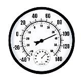 Termómetro de habitación para interiores y exteriores, higrómetro, monitor de temperatura y humedad, medidor para casa, oficina, invernadero, bebé, comodidad de 10 pulgadas de diámetro