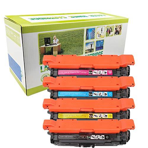 Tonerkartusche 647A CE260A (1BK)   648A CE261A CE262A CE263A (1C + 1Y + 1M) Kompatibel mit HP Color LaserJet Enterprise CM4540 CP4025 CP4525 Laserdrucker-4-colors