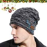 JYPS Beanie Hat con Bluetooth V5.0, Sombreros de Invierno inalámbricos Auriculares para Hombres Auriculares de música...