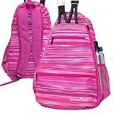 Best Kids Tennis Rackets - Athletico Compact City Tennis Backpack (Pink) Review
