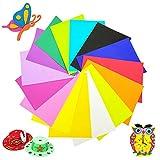30 Stück 15 Farben EVA-Schaum Bastelbögen, bunte EVA-Schaumplatten, Regenbogenfarben,...