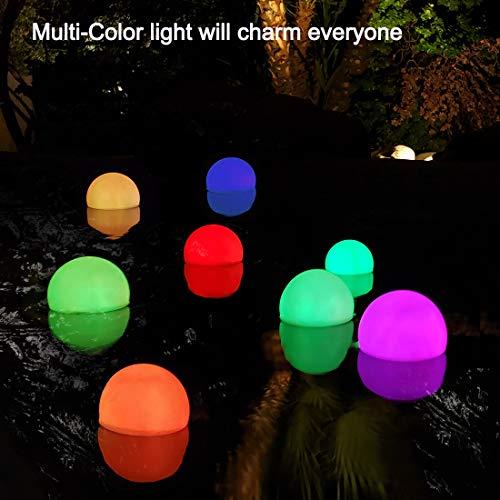 Floating Pool Light, RGB Color Changing Bathtub Led Ball Night Light,IP68 Waterproof Pool Accessory,Hot Tub Ball Light for Pool Bath Fountain Gift Home Decor(2pcs)
