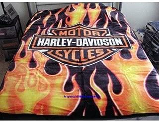 Harley Davidson Fresh Royal Plush Throw Blanket, Measures 60 by 80 inches