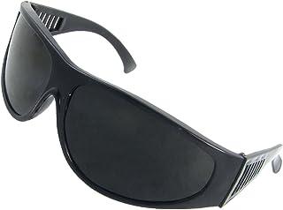 uxcell 保護メガネ 溶接用グラス メガネ ゴーグル アイプロテクター ブラック フレーム プラスチック製