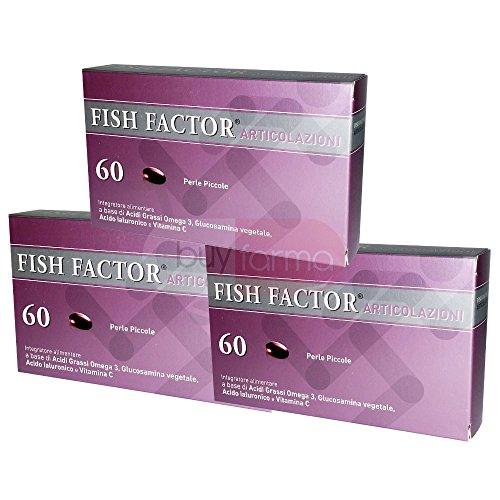 3X FISH FACTOR ARTICOLAZIONI - Integratore Alimentare che Favorisce la Formazione del Collagene - 180 PERLE PER 3 MESI DI TRATTAMENTO