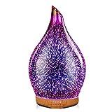 Porseme Aroma Diffuser Luftbefeuchter 280ml 3D Feuerwerk Ultraschall Luftbefeuchter Leise 7 Farbwechselnde LEDs,Cool Mist,Mit Timer, Raumbefeuchter BPA Frei Dekoration für Wohnung Yoga SPA