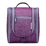 Hanging Travel Toiletry Bag Kit Cosmetic Makeup Organizer for Women and Men (A-Purple)