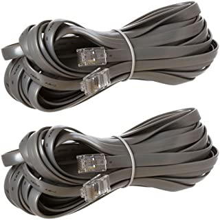 RJ45 Reverse for Voice Modular Cable 25 Feet Silver – 2 Pack