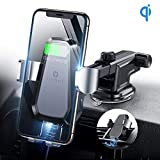 VICSEED Qi Wireless Car Charger, 10W Fast Wireless Charger Car Mount, Auto-Clamping Dashboard & Vent Phone Holder Fit for iPhone Xs Max Xr X 8 8 Plus, Fit for Samsung Note 10 9 S9 S8 Plus LG etc.