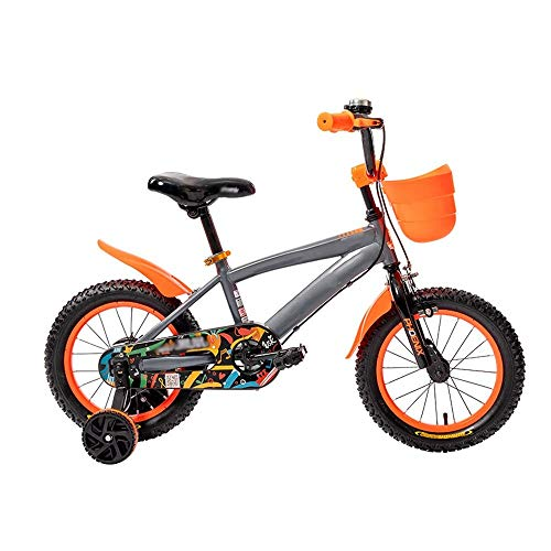 XBSLJ Kids' Bikes, Children Bicycle for Girl's and Boy's, Kids Bicycle with Training Wheels and Basket for 12 14 16 Inch Bike,Best Gift