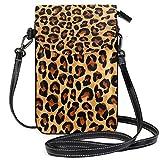 Teléfono celular monedero para colorear leopardo pequeña bolsa de teléfono celular monedero para mujeres...