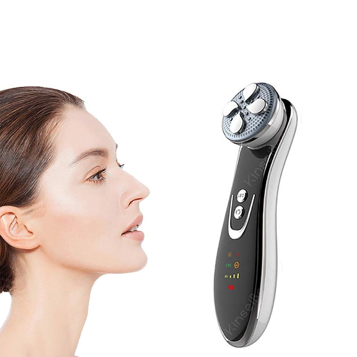 直立重荷デンプシーRFマッサージ、EMS顔の皮膚の若返り、ファーミング、アンチエイジングアンチリンクルブラックヘッド美容機器を持ち上げます,白