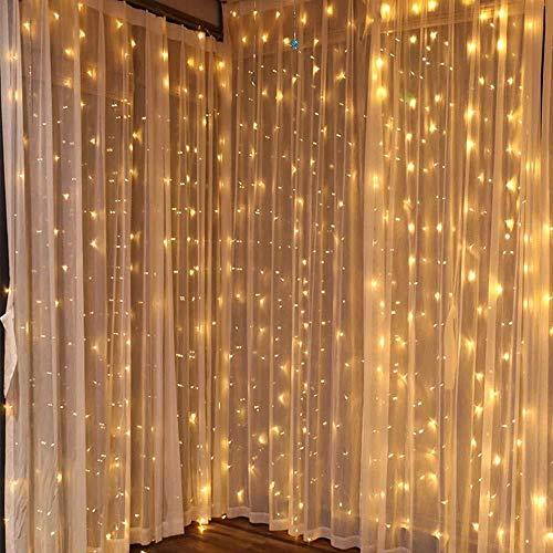 LED Vorhang Lichter Laterne 8 Modi Ice Strip Lights Wasserfall Weihnachtsbeleuchtung wasserdicht