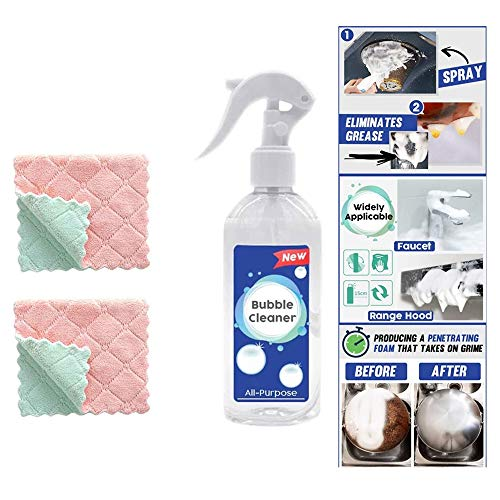 Kitchen Bubble Cleaner, Foam Spray Mould Remover Multi-Function Heavy Duty Cleaner All Purpose Cleaner Grease Cleaner Multi-Purpose Foam Cleaner (200ml)