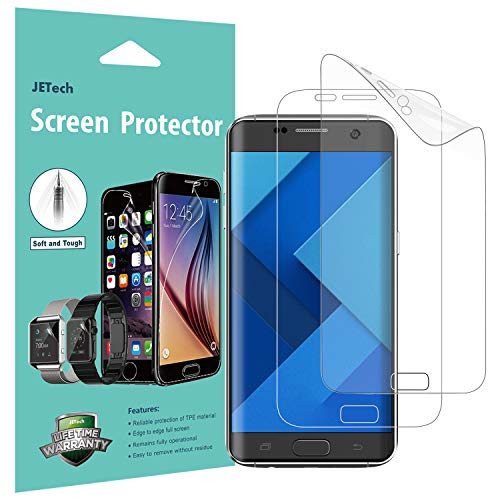 JETech Schutzfolie Kompatibel mit Samsung Galaxy S7 Edge, TPE HD Displayschutzfolie, 2 Stück