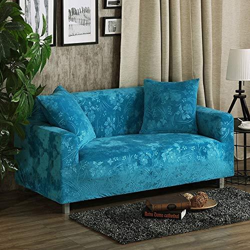 badaizmumu Velvet Fabric Thick Sofabezug Stretch Seater Bezüge Couchbezug Sofa Funiture Warp Schonbezüge Abdecktuch All Wrap 1 Sitz 90-140cm Karibik
