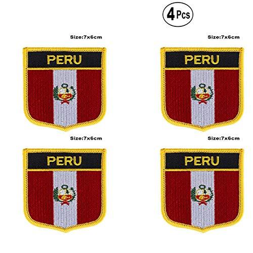 Peru Shiled Shape Flag Parches Parches Bandera Nacional