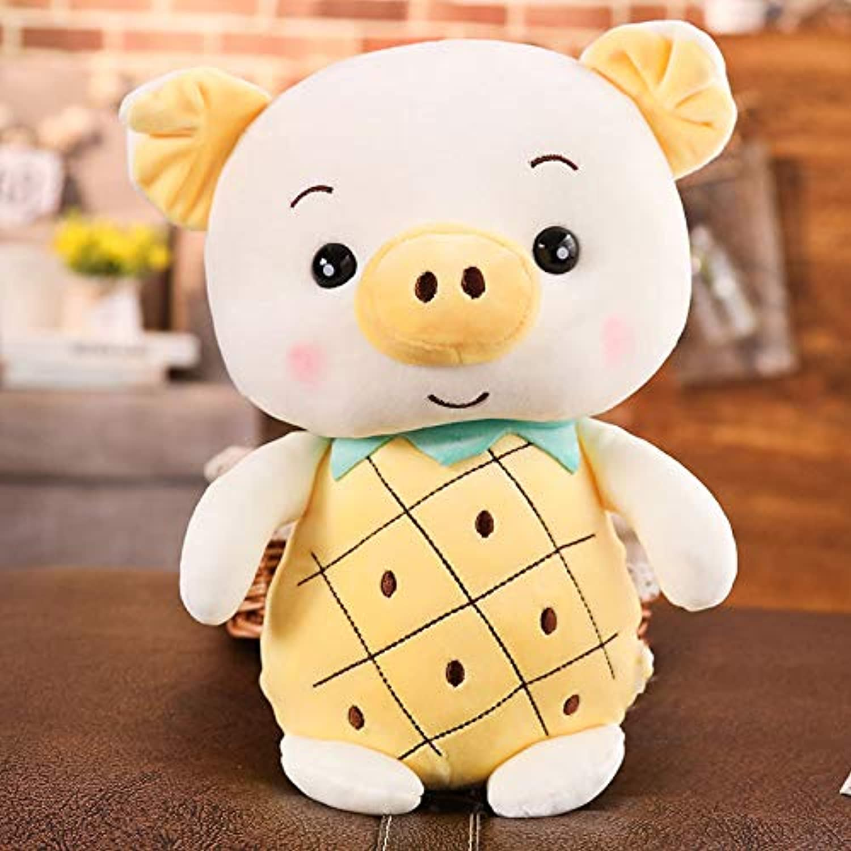 DONGER Schwein Hase Spielzeug Mdchen Schlafen Weie Kaninchen Süe Bettpuppe, Ananas Schwein, 40 cm