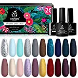Beetles 23 Pcs Gel Nail Polish Kit, Free Spirit Collection Soak Off Nail Gel...