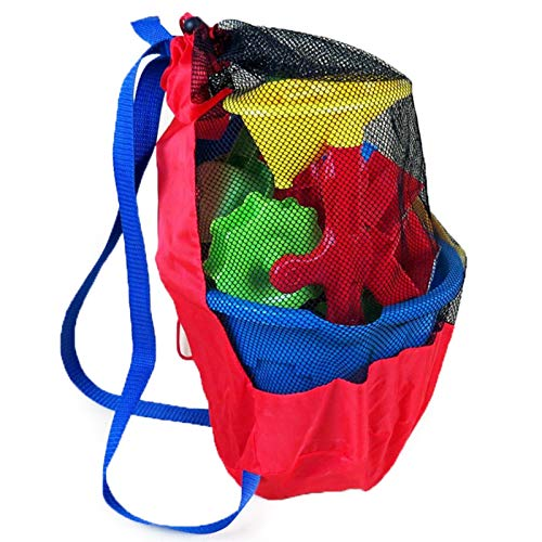 Rpaio Organizer Outdoor Toy Toy Storage Organizers Bag Summer Baby Sea Storage Mesh Bags for Children Kids Beach Sand Toys Water Fun Sports Bathroom Clothes Towels Backpacks Gift
