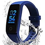 MorePro Fitness Tracker, Activity Tracker with Heart Rate Monitor Blood Pressure Monitor Smartwatch with Sleep Monitor, Step Counter, Calorie Counter, Pedometer Watch Call/SMS Reminder for Women Men