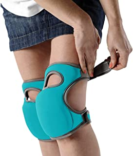 2 Pair Knee Pads for Work - Heavy Duty Foam Padding Kneepads for Construction, Gardening, Flooring with Comfortable Gel Cu...