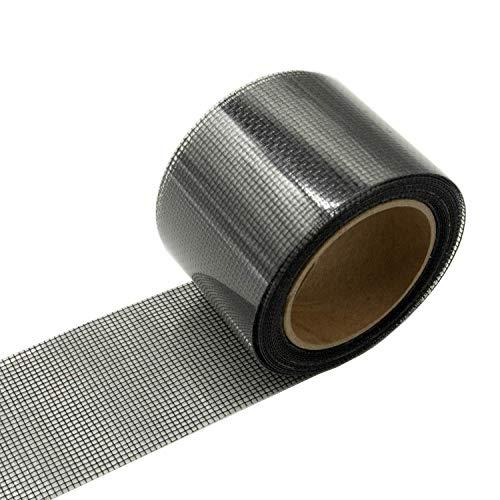 mciskin Screen Patch Repair Kit Fenster und Tür Mesh Repair Tape mit Klebstoff Fiberglas Repair Aufkleber für Löcher und Riss zu verhindern Insekten Invasion (schwarz)