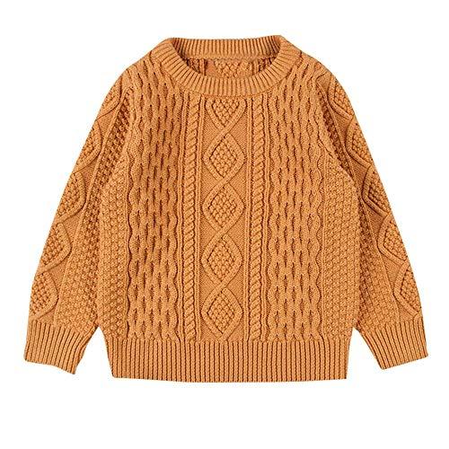 YanHoo Ropa para niños Niños Baby Girl Boy Jersey de Punto Cardigan de Costura sólida...