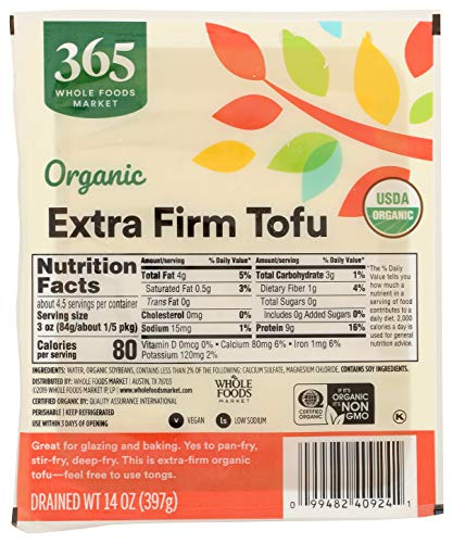 365 by Whole Foods Market, Organic Tofu, Extra Firm, 14 Ounce