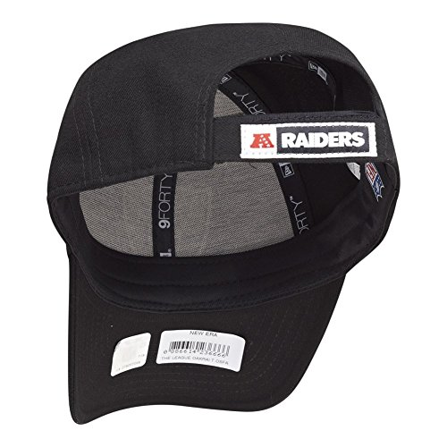 New Era Men's The League 9Forty Oakland Raiders Official Team Colour Baseball Cap, Black, One Size