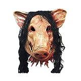 Kentop Masque Halloween Masque de Tête Animal Cochon Horreur Masque en Latex Masque Halloween...