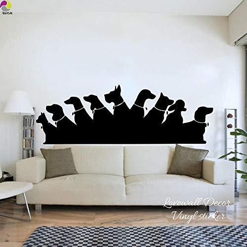 Muursticker voor huisdieren, voor huisdieren, voor bank, woonkamer, vinyl, lichtblauw, 100 x 34 cm, cooldeerydm