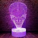 Lámpara De Ilusión 3D Luz De Noche Led Flash Dormir Colorido Cambio Dc The Joker Figura Juguetes Para Cumpleaños De Niños O Regalos De Vacaciones
