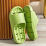 Cxypeng Mujer Peep Toe Primavera Verano,Zapatillas de baño de baño de Verano para Mujeres, Zapatos de Playa de Masaje Ligero-Green_40-41,Zapatillas de Ducha para Niños