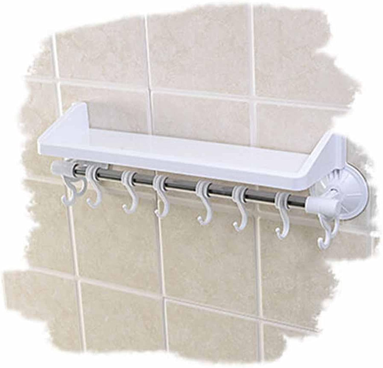 SSBY Modern bathroom wall-mounted suction cup rack, single tier storage rack free punch toilet-bathroom corner shelf