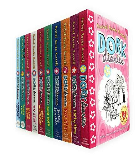 Rachel Renee Russell Dork Diaries 8 Books Slipcase Collection Pack Set (Dork Diaries Omg All About Diary, Dork Diaries Holiday Heartbreak, Dork Diaries 3 1/2 How to Dork Your diaries, Pop Star, Dear Dork, Skating Sensation, party Time,Dork Diaries)
