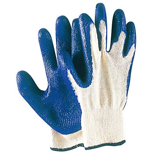 関西ファッション連合 ゴム引手袋 5双組 340 ブルー