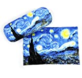 Fridolin Gafas funda set, Hardcase stoffbezogen con paño.'Van Gogh Noche estrellada